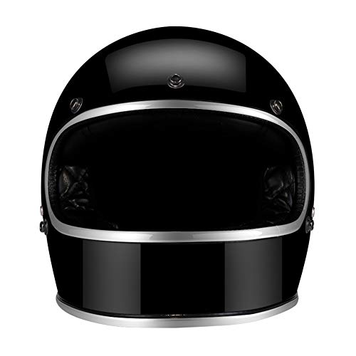 MTSBW Casco Moto Jet Moto Harley Personality Casco Scooter Caschi Moto Cafe Racer, B, XXL