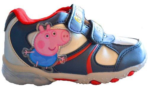Scarpe blu con luci di George - Peppa Pig Originale Taglia scarpe 22