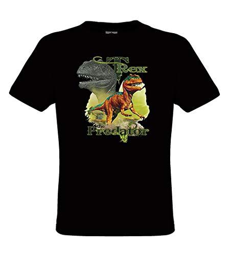(DarkArt-Designs T-Rex Predator - Dinosaurier T-Shirt für Kinder - Tiermotiv Shirt Wildlife Lifestyle Regular fit, Größe 152/164, schwarz)