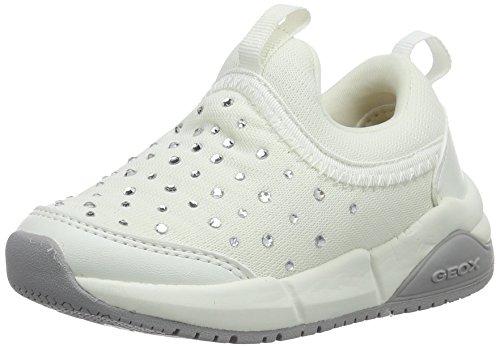 Geox Mädchen J Hideaki Girl C Low-Top Weiß (whitec1000)
