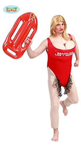 Faschingskostüme (Rettungsschwimmerin Kostüm mit Busen zum Junggesellenabschied Gr. M-XL, Größe:L)
