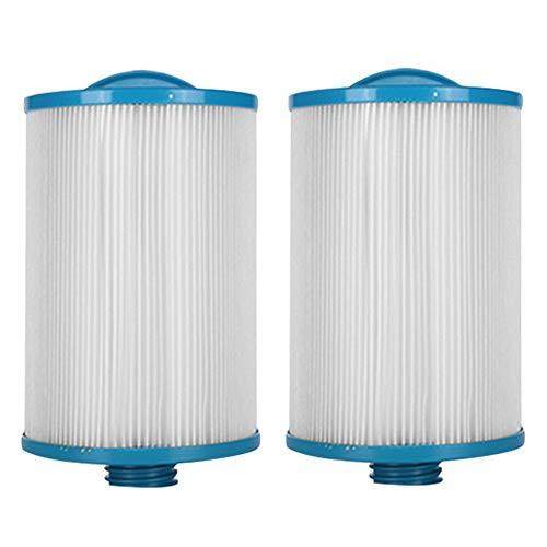 HLL Filterkartuschen Spa Ersatzfilter Vliesstoff-Patrone LX-621 Falten Weißes Filterpapier für viele Massage-Pool-Modelle (2Pack)