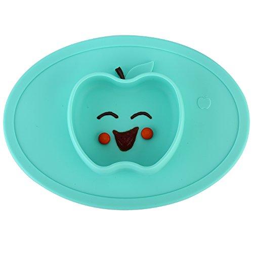 Qshare - Kleinkindplatte, Babyplatte für Kleinkinder und Kinder, Tragbare, BPA-freie, von der FDA zugelassene, starke Saugplatte für Kleinkinder - Geschirrspülmaschinen Eco