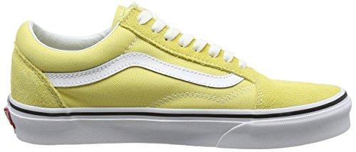 Vans Old Skool, Scarpe Running Unisexe-adulte Giallo (citron Sombre / Vrai Blanc)
