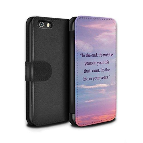 Stuff4 Coque/Etui/Housse Cuir PU Case/Cover pour Apple iPhone 5/5S / Tour Eiffel Croquis Design / Ombre Vivante Collection Citation A. Lincoln