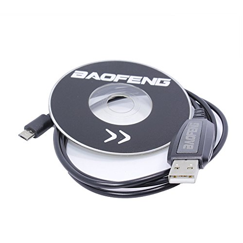 Cikuso BF-T1 Zubehoer USB-Programmierkabel + CD-Firmware Fuer BAOFENG BF-T1 Mini-Funksprechgeraet BF-9100 Mobilfunkgeraet BFT1 9100 Usb