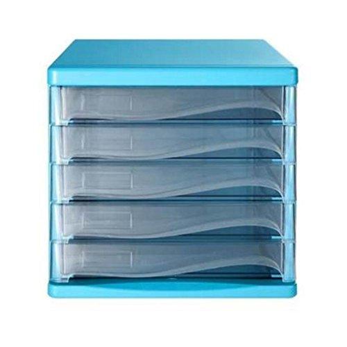 Aktenschrank Liuyu · Lebendes Haus 5 Schichten Büro Lagerung Kunststoff Kommode Desktop A4 (Farbe : Blau) -