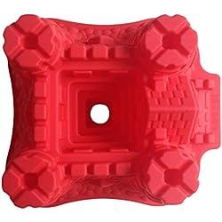 LYNCH Castillo Molde en forma de pasta de azúcar de silicona 3D mollete Jabón pasta de azúcar del molde