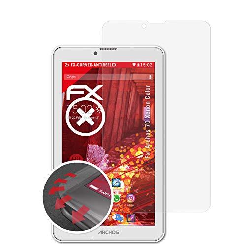 atFolix Schutzfolie passend für Archos 70 Xenon Color Folie, entspiegelnde & Flexible FX Bildschirmschutzfolie (2X)