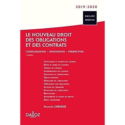 Le nouveau droit des obligations et des contrats 2019/20 - 2e éd.: Consolidations - Innovations - Perspectives