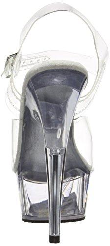 Pleaser Del608/c/m, Damen Plateau Pumps Transparent (clear)