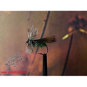 "Trockenfliegen "" HH Sedge Green "" 3er Set, Hakengröße 12"