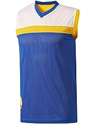 adidas Smr Rn Rev Sl Camiseta sin Mangas Golden State Warriors de Baloncesto, Hombre, Multicolor (Nbagsw), L