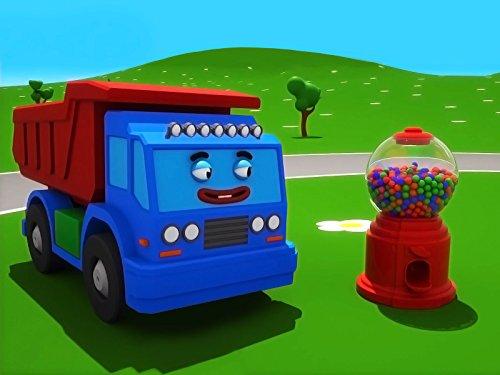 Farben lernen mit Blauer Lastwagen