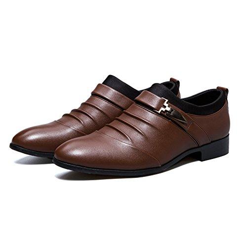Paris Hill  Euph094, Chaussures à lacets homme Marron
