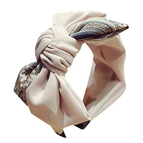 YWLINK Damen Stirnband Schleife Retro Elegant Frauen Haarband Bow Knot Rockabilly Kreuz Krawatte Samt Rockabilly Schminken ZubehöR