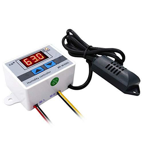DollaTek AC 220V Multifunktionaler, praktischer, hochpräziser digitaler Feuchtigkeitsregler Hygrometer-Schalter 0~99% Relative Luftfeuchtigkeit Hygrostat mit Sensor