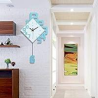 IBalody Einfache Moderne Wohnzimmer Wanduhr Restaurant Persönlichkeit  Kreative Trend Dekoration Zubehör Atmosphäre Uhr Holz Stumm Große