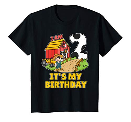 Shirt Bauer Kostüm - Kinder 2. Geburtstag Bauer Shirt Landwirt Ich Bin Schon 2 Jahre T-Shirt