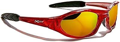 Xloop Gafas de Sol - Deporte - Mtb - Esquí - Moto - Ciclismo - Running - Kitesurf / Mod 2044 Rojo Cristal