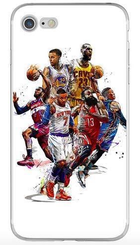 1c99f8dec34 Générique Coque iPhone 7 et iPhone 8 Lebron James Kobe Bryant James Harden Carmelo  Anthony Russell