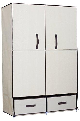 sale woltu ss5023be kleiderschrank mit flgeltr garderobenschrank faltschrank stoff textil. Black Bedroom Furniture Sets. Home Design Ideas
