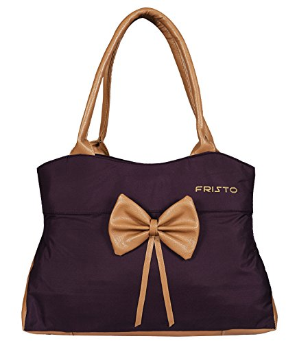 Fristo Women\'s Handbag(FRB-203) Purple and Beige