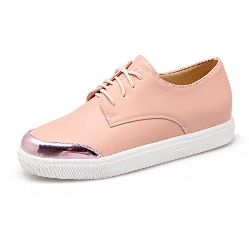 Chaussures Matière Légeres Rond Rose Voguezone009 Femme Mélangées Hpw4qxnH6