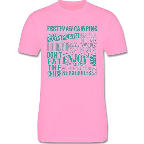 Festival - Festival camping lettering - Herren Premium T-Shirt Rosa