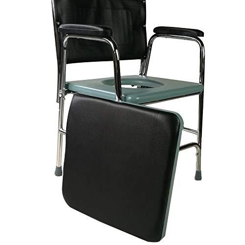 41uUJFu9hJL - Mobiclinic, Velero, Silla con WC o inodoro para discapacitados, minusválidos, ancianos, Plegable, Reposabrazos, Asiento ergonómico, Conteras antideslizates