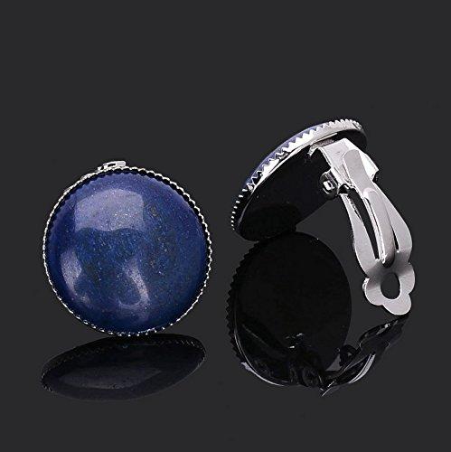 Tocoss (TM) (cadeau pour les meilleurs amis) Turquoise blanc marbršŠ pierre naturelle BOUCLES D'OREILLES PlaqušŠ Argent GušŠrison simples Mode d'oreilles en cristal pour les femmes