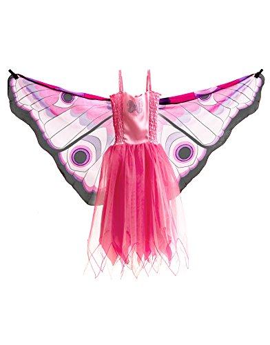Dreamy Dress-Ups 50960 Dress, Fly-Away-Kleidchen, Pink Butterfly, Schmetterling rosa, M 6-7 YRS