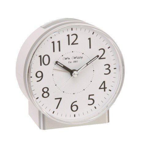 white-alarm-clock-with-silent-sweep-no-ticking-feature-plus-snooze-auto-shut-off-light
