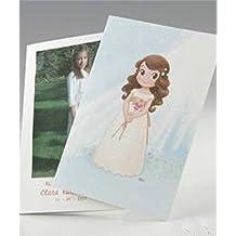 Mopec Portafoto para Primera Comunión de niña con un Lirio, Pack de 25 Unidades,