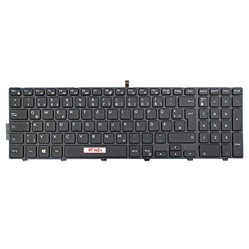Tastatur - Farbe: Schwarz - mit Hintergrundbeleuchtung Deutsches Tastaturlayout kompatibel für Dell Inspiron 15-5759, 15-7557, 15-3541, 15-3542, 15-7559, 15-5555, 15-5748, 15-5749, 15-5547