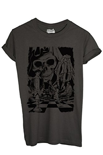 T-Shirt DYLAN DOG PARTITA CON LA MORTE - CARTOON by MUSH Dress Your Style - Donna-S ANTRACITE