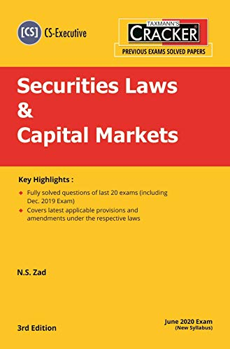 Taxmann's CRACKER-Securities Laws & Capital Markets (Module 2-Paper 6) (CS-Executive)(June 2020 Exam-New Syllabus)(3rd Edition 2020)
