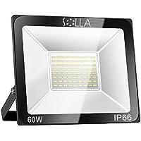 SOLLA Luz de Inundación de 60W LED,Luz de Seguridad para Exteriores, 340W Equiv, 6000K Luz del día blanco, 4800LM, Resistente al Agua IP66, Garantía de 24 Meses [Clase de Eficiencia Energética A +] …