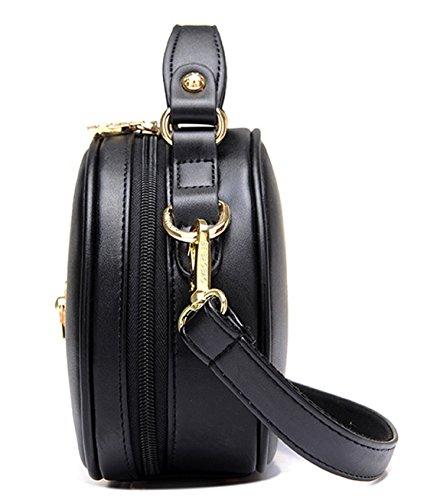 Longzibog Dual verstellbare Schultergurte und Hängeschlaufenband 2016 Neue Simple Style Fashion Tote Top Handle Schulter Umhängetasche Satchel Rosa
