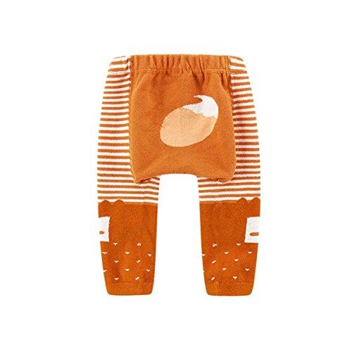 FYGOOD Unisex Baby Strumpfhose, Kinder-Strumpfhosen Orange Fuchs M(2-4 Jahre/Länge: 48cm)
