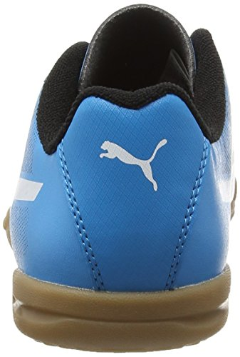 PumaAdreno II IT Jr - Scarpe Sportive Indoor Unisex – Bambini Nero (Schwarz (black-white-atomic blue 03))