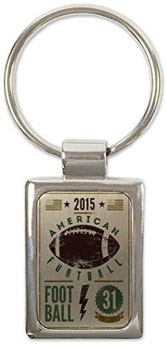 Schlüsselanhänger Retro American Football Bedruckt