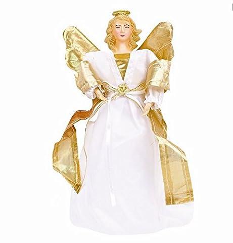 CHRISTMAS TREE TOPPER DECORATION KIT ANGEL GOLD