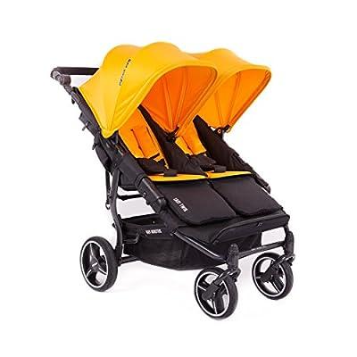 Baby Monsters- Silla Gemelar Easy Twin 3.0.S (Chasis negro) - Color Mango + REGALO de un bolso de polipiel (capota normal) Danielstore