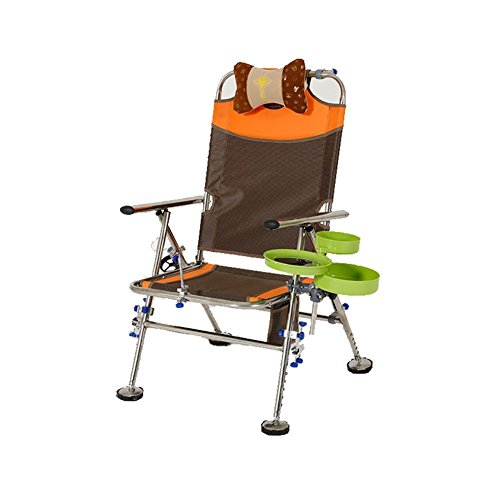 YJchairs Collapsible Chairs Fishing Chair With Accessories Bed Bag With Side Tray Carp Folding Stools With Backrest Seat With Armrest Ergonomic Portable Multifunctional Cozy (Color : #3)