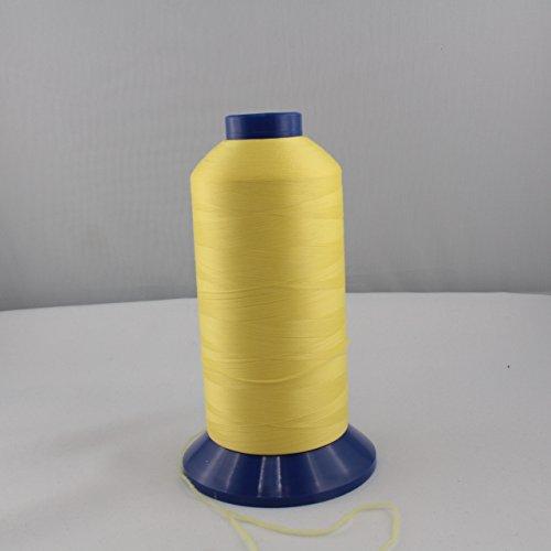 Bauschgarn - Overlockgarn - gelb, hellgelb - Stärke: 60 - Nylon - 5000 m (Nylon-faden Overlock)