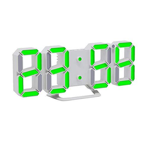 Dtuta 3D Led Tischuhren Wecker Digital Snooze Function Kalender, Temperatur Anzeigen