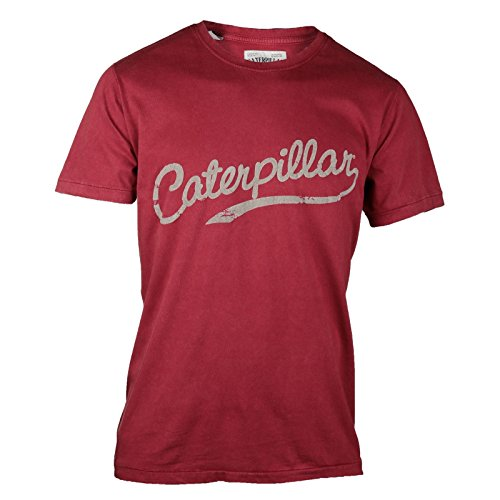 Caterpillar Heritage Script Herren T-Shirt, Kurzarm Sonnengelb