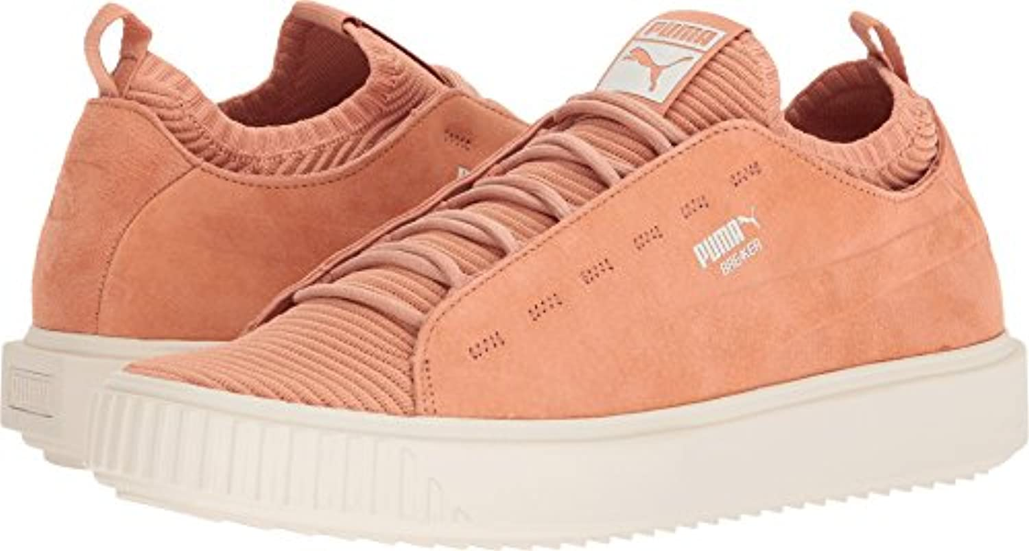 Puma Mens Breaker Knit Sunfaded Fashion Shoes   Muted Clay Whisper White Size 11.5
