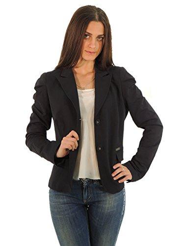 Liu Jo giacca donna monopetto felpa a tinta unita W60049F0004 (XL, BLU)